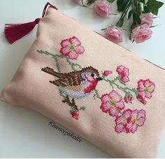 Happy healthy and nice holidays to everyone🍬🍬This beauty is prepared for let it be used Cross Stitch Needles, Cross Stitch Heart, Cross Stitch Borders, Cross Stitch Designs, Cross Stitching, Cross Stitch Embroidery, Cross Stitch Patterns, Cross Stitch Cushion, How To Make Purses