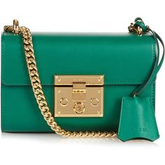 Gucci Padlock mini leather shoulder bag (€1.515) ❤ liked on Polyvore featuring bags, handbags, shoulder bags, сумки, green, leather purse, gucci purses, mini purse, green purse and shoulder handbags