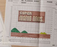 2015 marks the anniversary of Super Mario Bros for the NES. And in addition to the new Super Mario Maker, which is now available for pre-order, Mario creator Shigeru Miyamoto and longtime Mari… Super Mario Brothers, Super Mario Bros, Game Design Document, Paper Video, Super Mario Games, Game Themes, Games Box, Mario Bros., High School Art