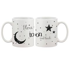 I Love You to the Moon and Back Couple Mugs - His and Hers Matching Coffee Mug Cup Set - Perfect Wedding, Engagement, Anniversary, and Valentines Day Gift for Newlyweds Couples Coffee Mugs, Couple Mugs, Wedding Gifts For Newlyweds, Newlywed Gifts, Valentines Mugs, Valentine Day Gifts, Matching Gifts, Love You, My Love
