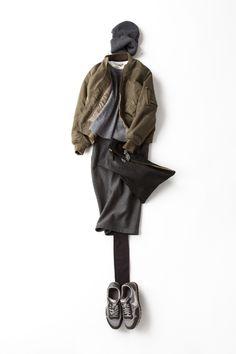 Kyoko Kikuchi's Closet | MA-1を色っぽくエレガントに着る