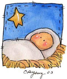 18 Easy Christmas Canvas Painting Ideas for Kids – mybabydoo – Christmas DIY Holiday Cards Christmas Rock, Christmas Nativity, Simple Christmas, Kids Christmas, Christmas Crafts, Christmas Decorations, Nativity Ornaments, Nativity Scenes, Painted Ornaments