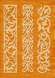 7 Border Cutting File for Laser, Cnc, plasma Floral Wall Stencil, Decorative Elegant Borders 7 Border Cutting File for Laser, Laser Cut Stencils, Stencil Templates, Stencil Patterns, Stencil Designs, Wood Panel Walls, Panel Wall Art, Wood Wall, Border Design, Pattern Design