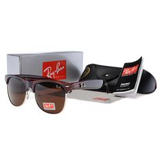 96a56a0f46f Fake Ray Bans Catty Clubmaster Sunglasses Brown Sale  19.00