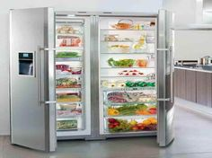 full fridge and freezer | Full Size Refrigerator and Freezer with the vegeteble