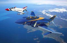 Phantom II (Blue Angels and Thunderbirds) Us Military Aircraft, Military Jets, Navy Aircraft, Airplane Fighter, Fighter Aircraft, Air Fighter, Fighter Jets, Us Navy Blue Angels, F4 Phantom