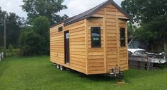 Great tiny house on a 25' trailer that was built to withstand hurricane force winds. It is all brand new. New high end cedar siding, double pane high end windows, and quality metal roof. The interi...