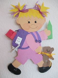 Fensterbild Tonkarton Schulkind HanneL,Frühling,Sommer, Einschulung Geschenk