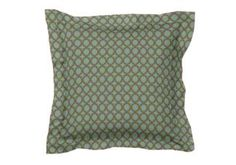 "Custom Designer Throw Pillow with Flange | Using fabric ""46008-0019"""
