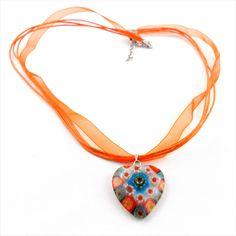 Halskette/-band mit Millefiori-Glasherz  Mille-Fiori (italienisch=tausend Blümchen)  Glasherz  24x24 mm  Länge 48 cm inkl. Verlängerungskette  Karabinerverschluss #JOY #Einzelstücke #Herz #Millefiori #anhänger #Halskette #halsschmuck #schmuck #modeschmuck #heart #pendant #necklace #costumejewelry #jewelry #jewellery #Geschenk #Geschenkidee #gift #fashion #style #love #Ostern #Hochzeitstag #Geburtstag #Valentinstag #Muttertag #Weihnachten #schmuckliebe #freudeschenken #shopping #onlineshop Joy Shop, Pendants, Necklaces, Pendant Necklace, Gift Ideas, Gifts, Jewelry, Fashion Jewelry, Marriage Anniversary