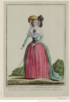 M.lle Flore occupée et rêvant avec plaisir aux qualités de celui qui est parvenu à la fixer... : [estampe] / [non identifié] Éditeur : chez Basset (A Paris) Date d'édition : 1788