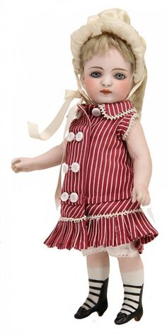 PROBABLY KESTNER all-bisque doll, 19 cm, socket head,