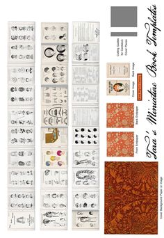 miniature printable book - Wigs - includes cover, internal pages and end pieces