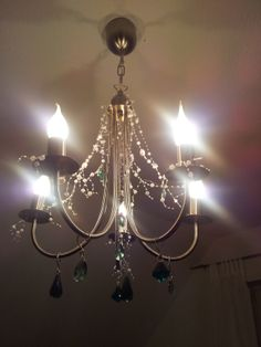 Chandelier found at the flea market and changed a little...