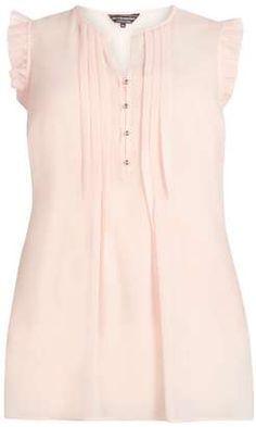 Billie & Blossom curve Blush frill detail blouse #plus #tops #women