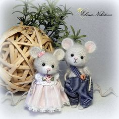Crochet Doll Pattern, Crochet Patterns Amigurumi, Amigurumi Doll, Crochet Dolls, Crochet Mouse, Crochet Bear, Cute Crochet, Mouse Crafts, Stuffed Toys Patterns