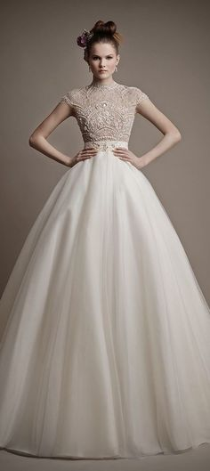 Ball Gown Wedding Dresses : Picture Description Margaret - Ersa Atelier 2015 available at L'Fay Bridal. Designer wedding dresses with intricate 2015 Wedding Dresses, Wedding Attire, Bridal Dresses, Wedding Gowns, Wedding Blog, Wedding Ideas, Wedding Story, Wedding Pics, Beautiful Gowns