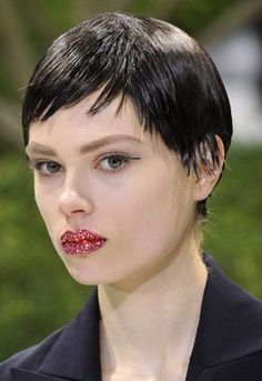 Sequinned lips dazzle at Dior haute couture spring/summer 2013