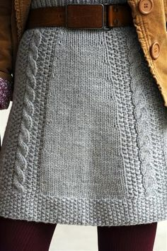 Men's Sweater into Knit Skirt