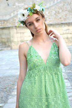 Leyre Barriocanal. Dress: Lío de Faldas http://blogs.glamour.es/style-a-porter/cold-shoulders-bronde/