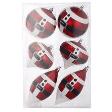 6 Piece Christmas Tree Ornament Set