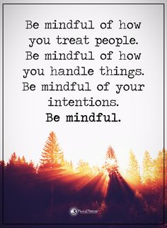 The mindful of how you treat people. Be mindful of how you handle things. Be mindful of your intentions. Be mindful.  #powerofpositivity #positivewords  #positivethinking #inspirationalquote #motivationalquotes #quotes #life #love #mindful #intentions #treat