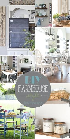 If you like farmhouse style decor, your going to love this DIY Farmhouse Style round up of ideas for decorating your home!