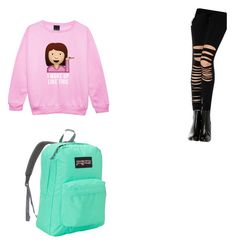 """Friday's"" by maddierosecarter on Polyvore featuring Chicnova Fashion and JanSport"