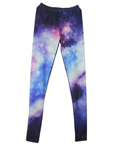 Gradient Galaxy Print Jeggings from Chicnova