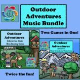 Outdoor Adventures -Interactive Music Games Bundle of Note Reading and Music Symbols and Terms Games are interactive outdoor themed Music games designed for both Google Slides and Adobe Reader. They allows students go on a virtual adventure visiting diffe
