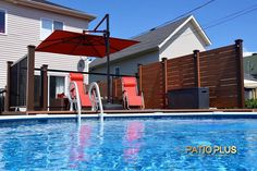 The Tools Needed When Laying Decking Privacy Wall On Deck, Privacy Walls, Above Ground Pool Decks, In Ground Pools, Patio Plus, Piscine Diy, Deck Framing, Swimming Pool Decks, Laying Decking