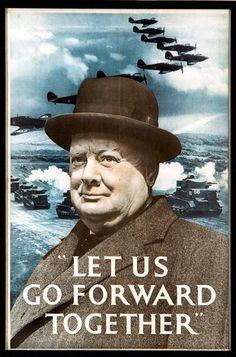 WW2 Poster, Winston Churchill