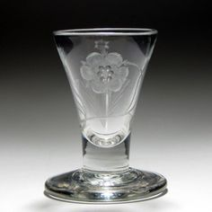 18th century Jacobite engraved firing glass