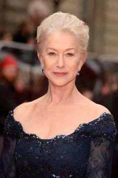 17 Silver Vixens Who Will Have You Canceling Your Next Dye Job #refinery29  http://www.refinery29.com/48883#slide12  Dame Helen Mirren is so comfortable with her hair that she died it pink. While we love a Dame with some edge to her, we think Mirren's gray 'do only adds to her elegance.