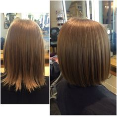 So many restyles at the moment. Wearing a one length Bob straight and sleek gives it that edgy, cool look! This guest will be going super light blonde soon too! #excited #restyle #hair #colour