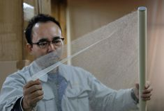 A company in Japan produces Tengujo, the thinnest, almost transparent paper in the world that offers serious durability with its long fibers. Japanese Books, Japanese Paper, Paper Manufacturers, Tumblr, Washi, Im Not Perfect, Lol, Times