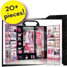 Barbie Fashionistas Ultimate Closet is just as iconic as her shoes and the Dreamhouse. New Barbie Dolls, Barbie 2000, Mattel Barbie, Barbie Organization, Barbie Fashionista, Barbie Dream House, New Year Gifts, Used Clothing, Christmas And New Year