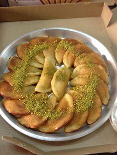 Authentic Libyan Qatayef - قطايف - Dumpling Stuffed with Nut..., ,