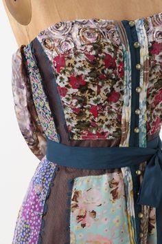 Anthropologie patchwork dress