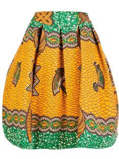 STELLA JEAN printed A-line skirt