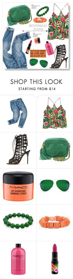 """Let's Do What We Love"" by viola279 ❤ liked on Polyvore featuring MANGO, Sophia Webster, Chanel, MAC Cosmetics, Victoria Beckham, Bling Jewelry, Chico's and philosophy"