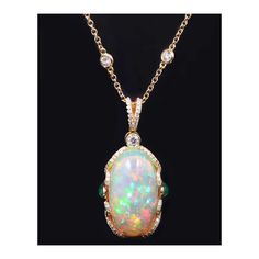 Robert Pelliccia Original Opal Pendant (Chain Sold Separately) ($22,500) ❤ liked on Polyvore featuring jewelry, pendants, oval pendant, pendant jewelry, chain jewelry, opal jewelry and chain pendant