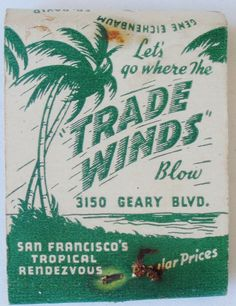 Trade Winds Tiki Bar, San Francisco's Tropical Rendezvous