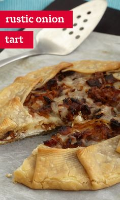 Rustic Onion Tart – This cheesy appetizer recipe is an easy take on ...