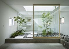 Indoor Trees House in Nagoya