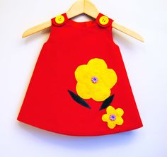 For the expecting moms out there :) Dress your little one up in red and yellow!