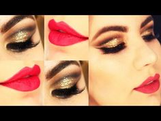 Christmas Makeup Tutorial - Maquiagem Dourada Natalina - YouTube