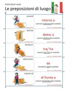 01 Le preposizioni di luogo (video lesson & flash cards)…