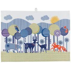Wild & Wolf Folklore Woodland Animals & Spring Rain Tea Towels - Set of 2