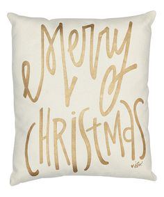 Loving this Gold 'Merry Christmas' Throw Pillow on Christmas Mom, All Things Christmas, Christmas Crafts, Christmas Decorations, Christmas Pillow, Christmas Ideas, Jingle All The Way, Textiles, Merry And Bright